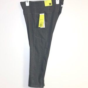 NWT Sz. Large Gray High-rise Compression Capris